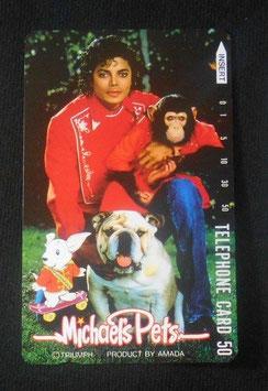Michael Jackson テレフォンカード 1987年 マイケルズ ペッツ