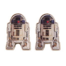 Star Wars R2D2 Cutout Stud Earrings