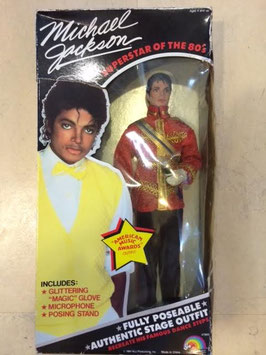 "MJ 12"" Figure ""American Music Awards"" by LJN Toys 1984  Mustache Ver."