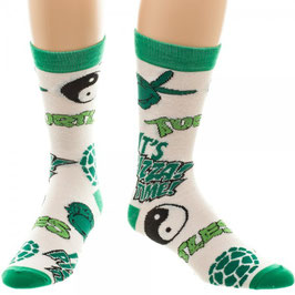 TMNT Multi-Icons All Over Print Crew Socks