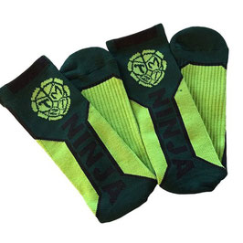 Teenage Mutant Ninja Turtles: Ninja Text Men Crew Socks