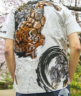 """北斗の拳  """"ラオウ虎""""  刺繍  Tシャツ"""