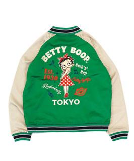 Betty Boop-ベティブープ  総刺繍 スカジャン(Rock`nRoll)