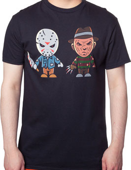 Jason Voorhees and Freddy Krueger Cartoon Tシャツ
