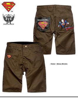 Superman  プリント&刺繍チノショートパンツ(BLACKロゴ)