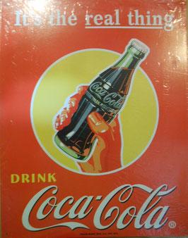 Coca-Cola コカコーラ ブリキ看板(レッドバック ボトルを握る手)