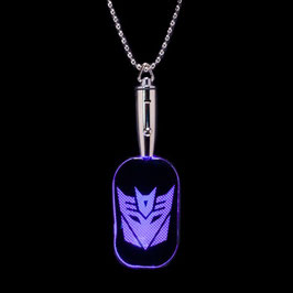 Transformers Decepticon LED Dog Tag