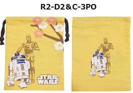 STAR WARS シャンタン巾着 R2-D2&C-3PO