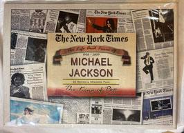 Michael Jackson New York Times Historic  Newspaper Compilation