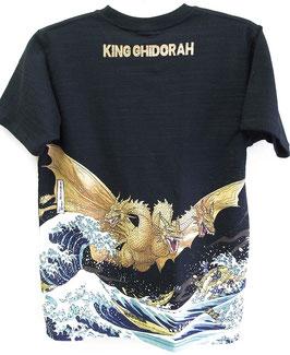 キングギドラ  抜染Tシャツ(富嶽三十六景)