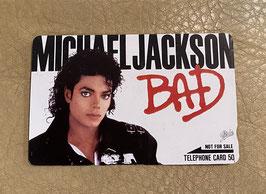Michael Jackson  テレフォンカード 1988(BAD)