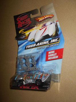 スピード・レーサー HOT WHEELSミニカー  「THOR-AXINE,INC. 」Street Car w/ Jump Jacks  1:64