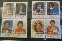 Michael Jackson 1985年 切手セット(世界のリーダーシリーズ)
