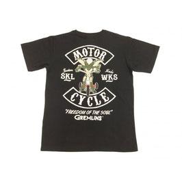 グレムリン  ストライプ モーターサイクル Tシャツ