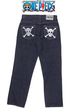 ワンピース  麦わらの一味 海賊旗 デニム パンツ