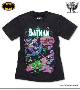 「BATMAN(バットマン)」x「MINUTE MIRTH」箔プリントTシャツ