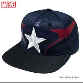 MARVEL キャプテンアメリカ 星型刺繍キャップ(B)