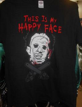 『悪魔のいけにえ』Tシャツ(HAPPY FACE)
