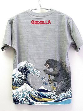 GODZILLA  抜染Tシャツ(富嶽三十六景 大怪獣ノ図)