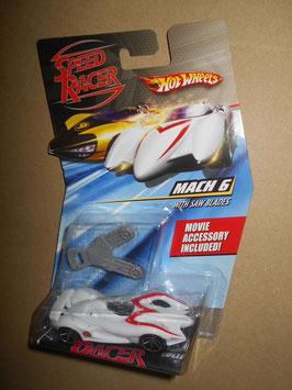 スピード・レーサー HOT WHEELSミニカー  「MACH 6」 w/ Saw Blades  1:64