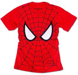 MARVEL  スパイダーマン マスク 全面プリント Tシャツ