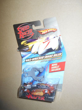 スピード・レーサー HOT WHEELSミニカー  「RACE-WRECKED SNAKE OILER」 Race Car w/ Spear Hooks  1:64