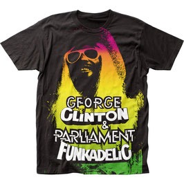 FUNKADELIC GEORGE CLINTON BIG PRINT SUBWAY Tシャツ