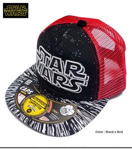STARWARS ロゴ刺繍  メッシュ キャップ