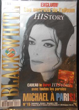 1995年MJファン雑誌(フランス)「BLACK & WHITE」NO.15(未開封・HIStory ソングブック付録つき)
