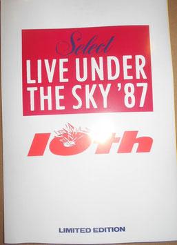 ライブ・アンダー・ザ・スカイ (LIVE UNDER THE SKY) 1987年 パンフレット&販促品セット