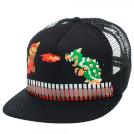 Nintendo Super Mario Black Trucker Cap