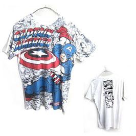 CAPTAIN AMERICA 総柄Tシャツ