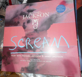 "MICHAEL JACKSON & JANET JACKSON - Scream - 1995 UK 6-mix 12"" Vinyl Single"