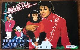 Michael Jackson テレフォンカード 1987年 マイケルズ ペッツ(横)