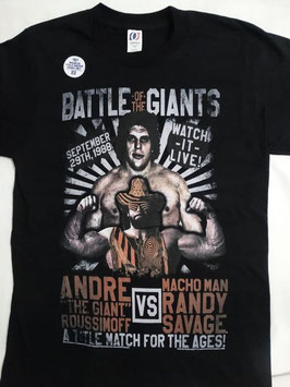 Randy Savage  Vs Andre The Giant Battle of the Giants  Tシャツ