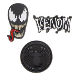 MARVEL COMICS VENOM 3 PACK ENAMEL METAL LAPEL PIN SET