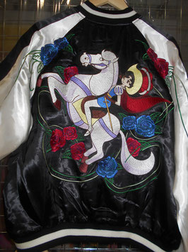 リボンの騎士 総刺繍 スカジャン