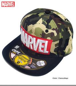MARVEL ロゴ刺繍 スパイダーマン カモフラ キャップ