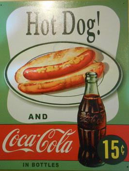 COCA COLA コカコーラ ブリキ看板 (HOT DOG)