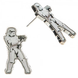 Star Wars Storm Trooper Cutout Earrings