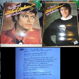マイケル・ジャクソン1985年カレンダー(ワラビ-ブックス)