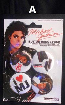 Michael Jackson 缶バッジ4セット