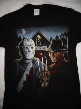 Jason  and Freddy  Camp Crystal Lake  Elm Street  Tシャツ