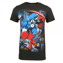 Marvel  Comics Captain America Wing Head Tシャツ