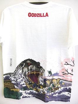 GODZILLA  抜染Tシャツ(富嶽三十六景 大怪獣 桜之宴)