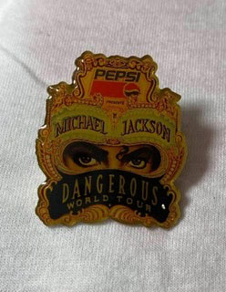Michael Jackson  Dangerous Tour  ピンズ 1992年