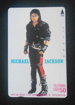 Michael Jackson テレフォンカード 1987年 電通(BAD)