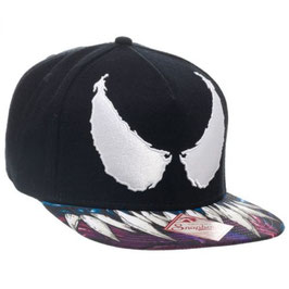 MARVEL COMICS VENOM BIG FACE SUBLIMATED BILL SNAPBACK HAT