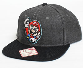Nintendo Mario Gray スナップバックキャップ
