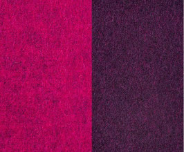 Walkloden Double-Face -Fuchsia+Lila-